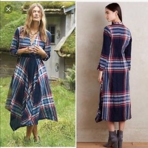 Anthropologie Isabella Sinclair Plaid Dress